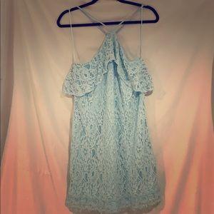 Women's baby blue casual dress